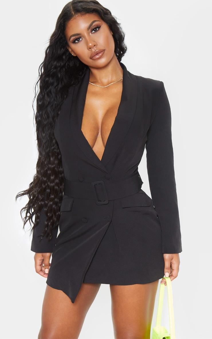Black Belt Blazer Dress 4