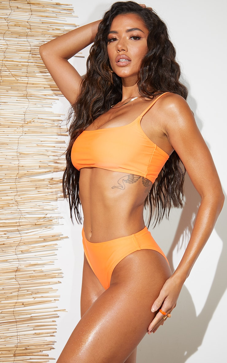 Recycled Orange Mix & Match Cheeky Bum Bikini Bottoms 2