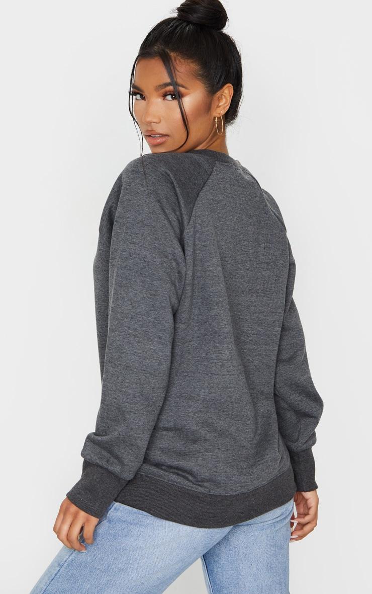 Basic Charcoal Grey  Crew Neck Sweater 2