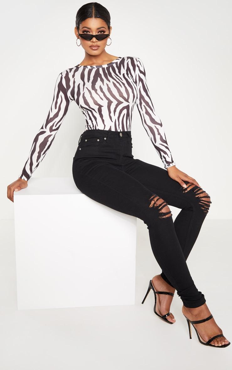 Tall - Jean skinny noir 5 poches déchiré aux genoux 6