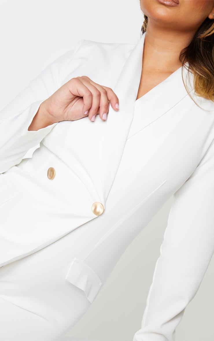 White Gold Button Blazer Playsuit 4