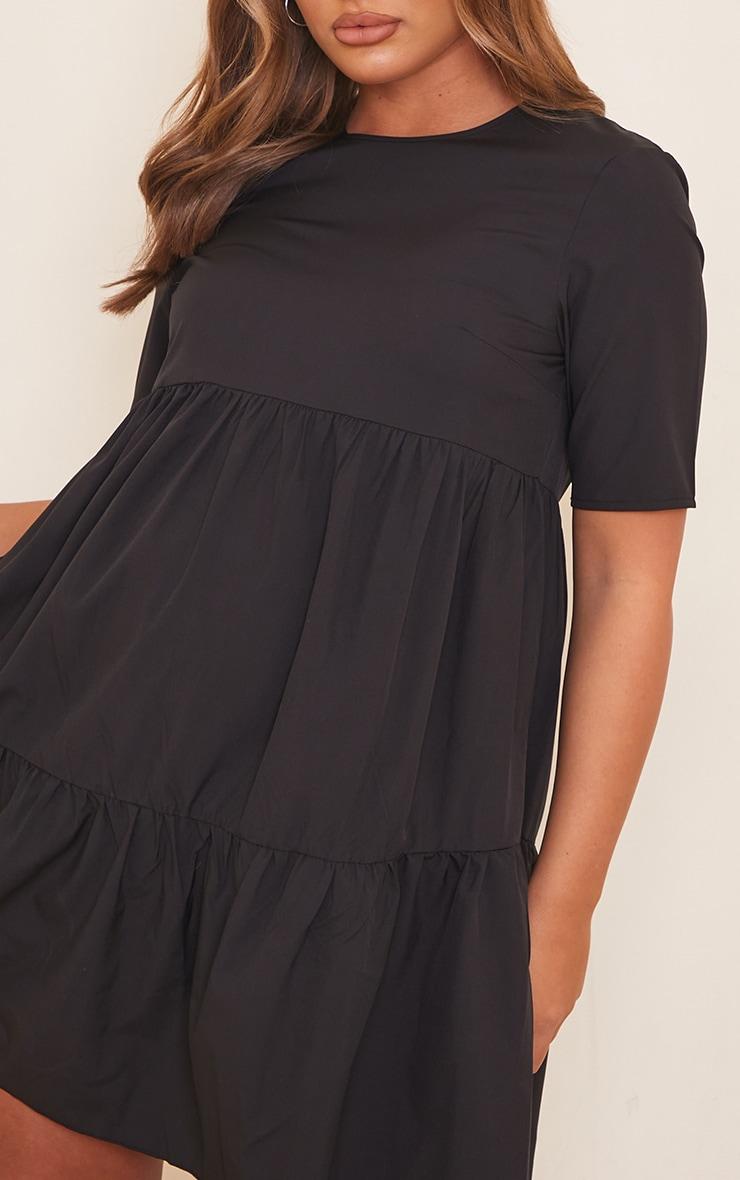 Maternity Black Ruffle Mini Dress 4