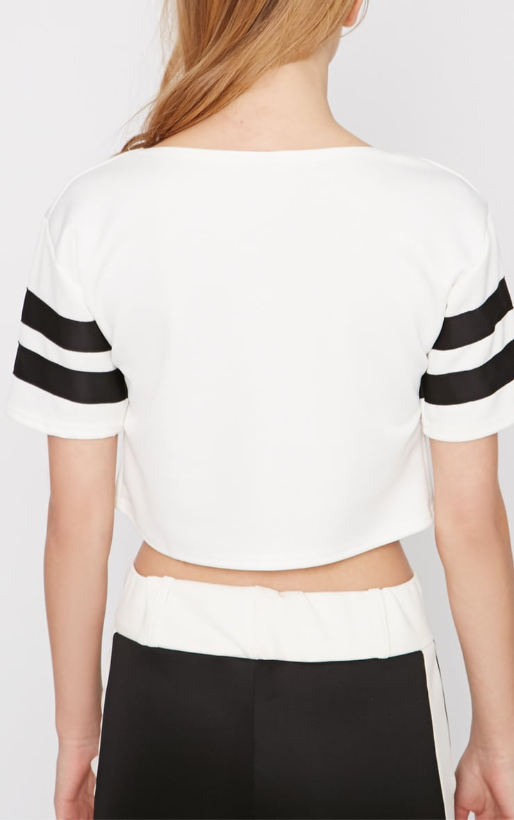 Shebah Monochrome Crop Top  2