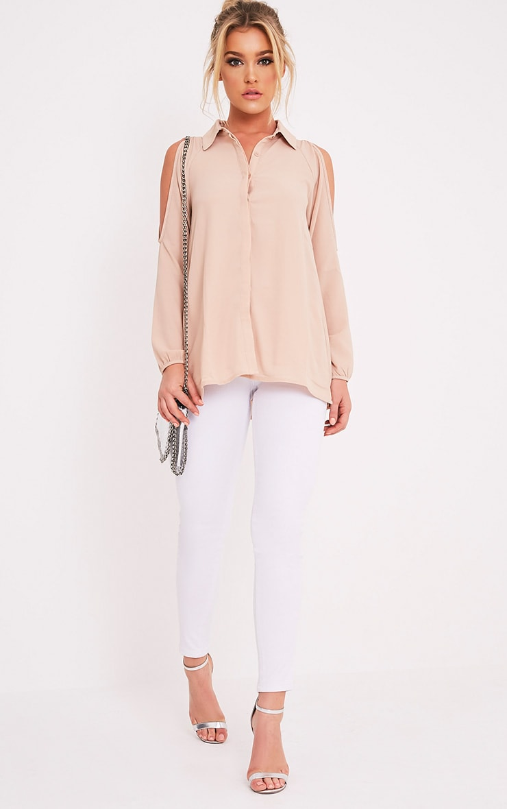 Lorisa Stone Cold Shoulder Floaty Blouse 5