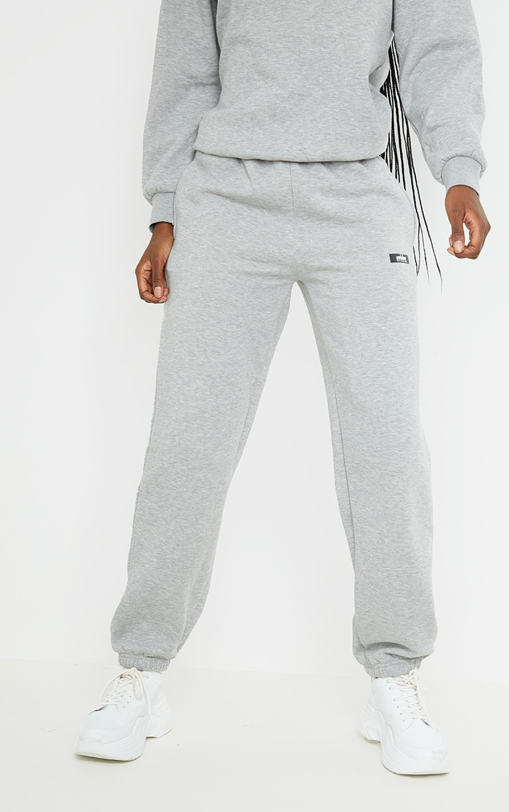 PRETTYLITTLETHING Tall Grey Studio Oversized Joggers 2