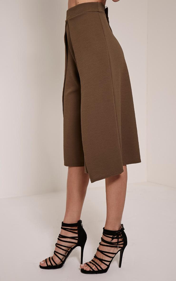 Esmay Khaki Layered Culottes 3