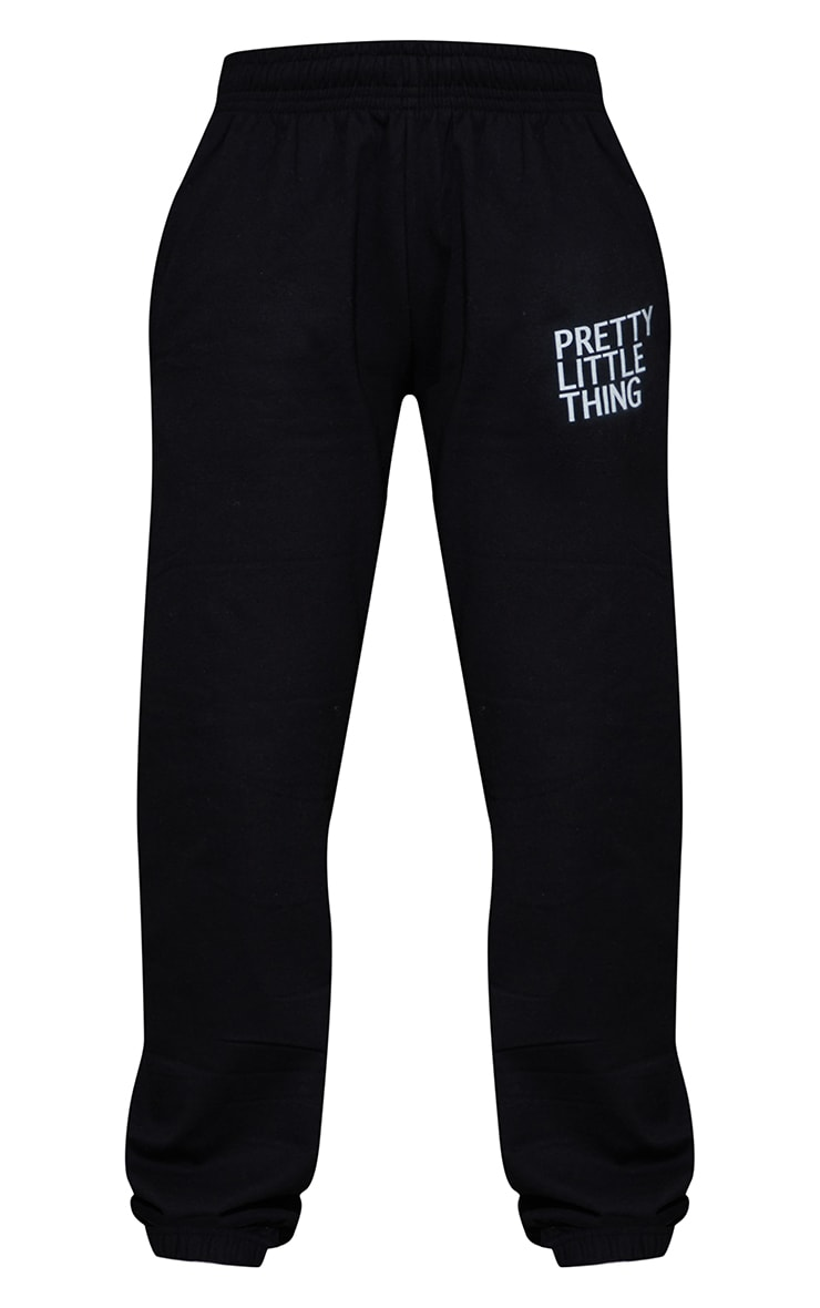 PRETTYLITTLETHING Black Printed Joggers 5