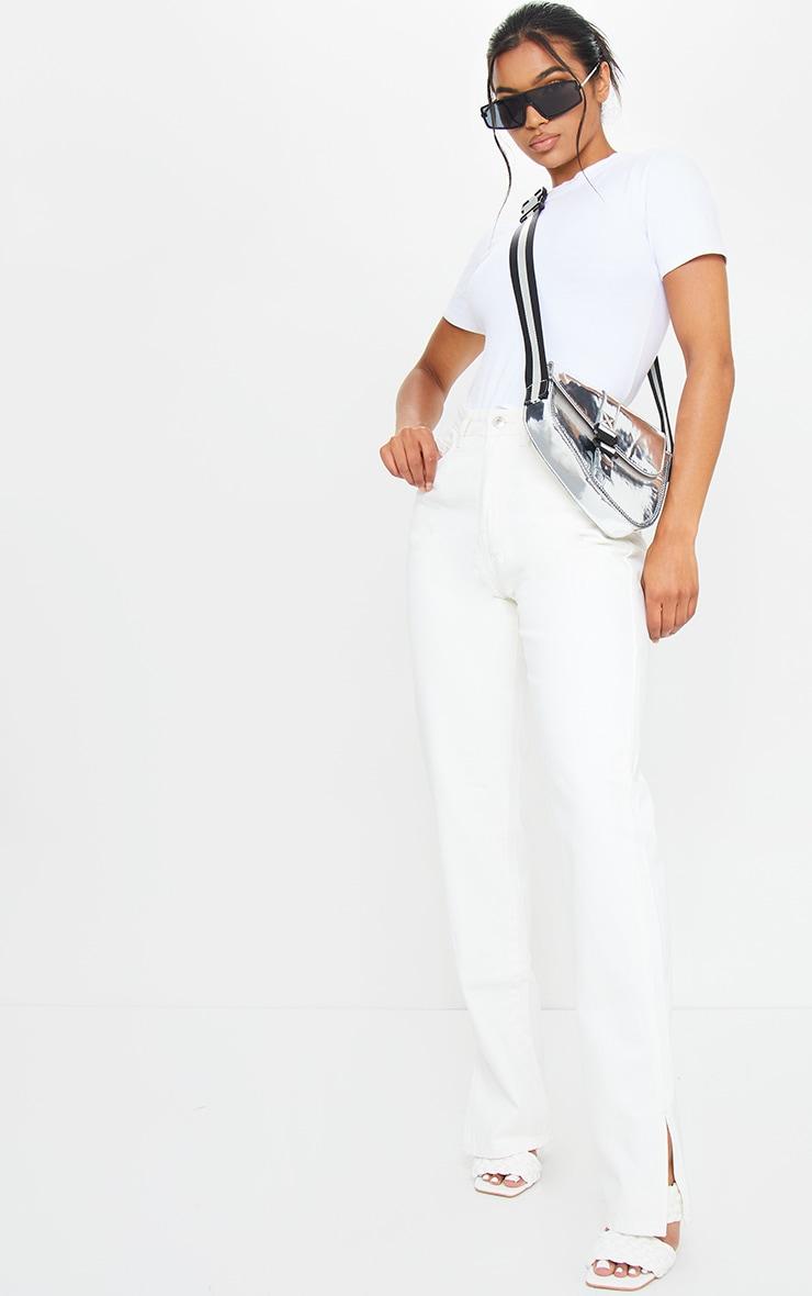 Off White Split Hem Jeans 1