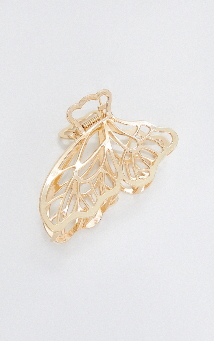 Gold Butterfly Hair Clip 3