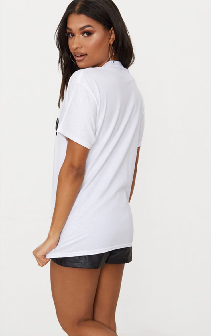 T-shirt blanc oversized à slogan Brooklyn 2