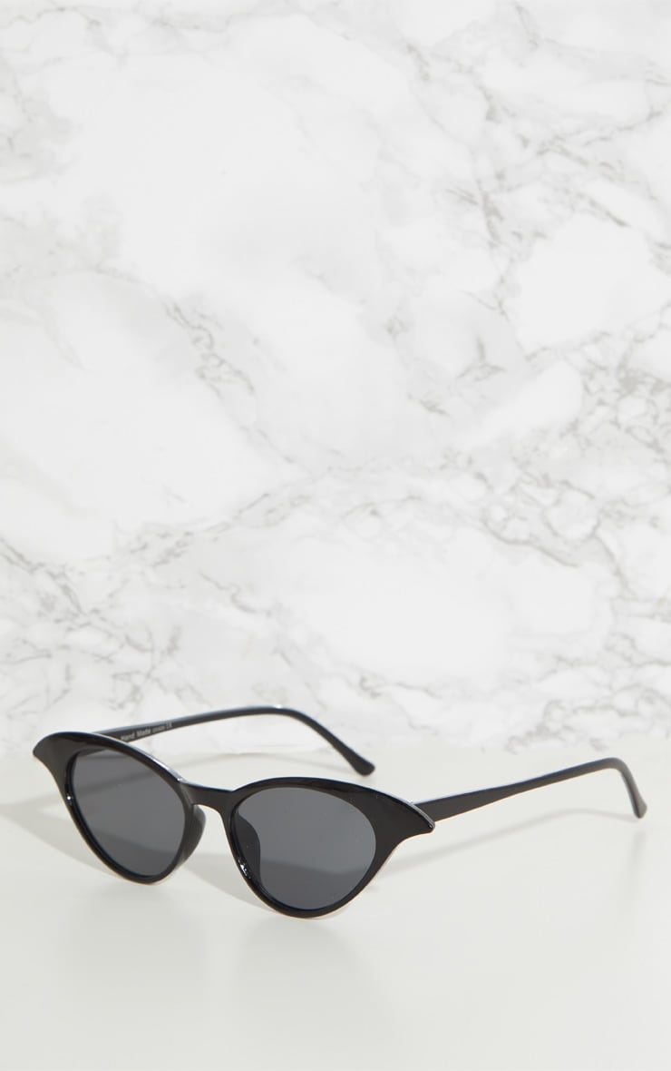 Black Drop Cat Eye Sunglasses 3