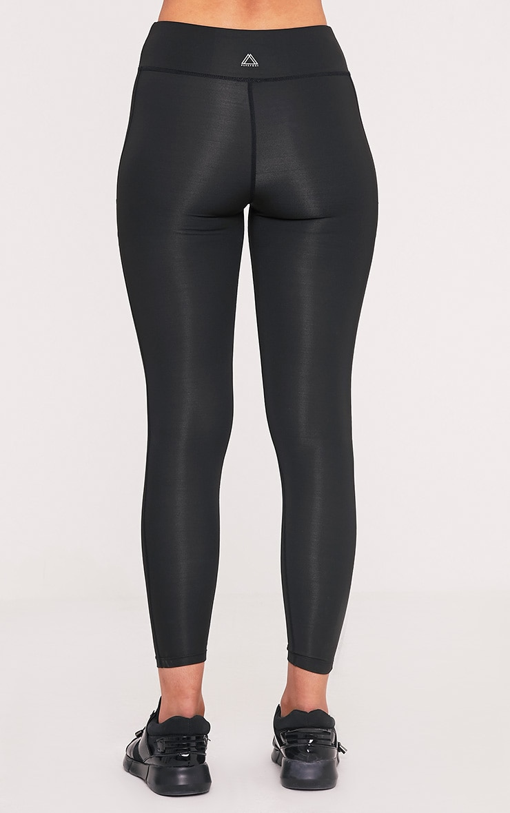 Alexis Black Panelled Gym Leggings 5