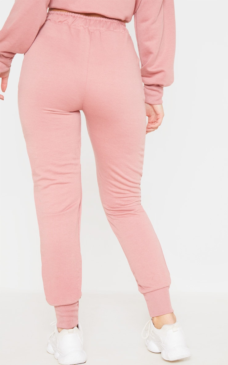 Dusty Pink Basic Gym Sweat Jogger 3