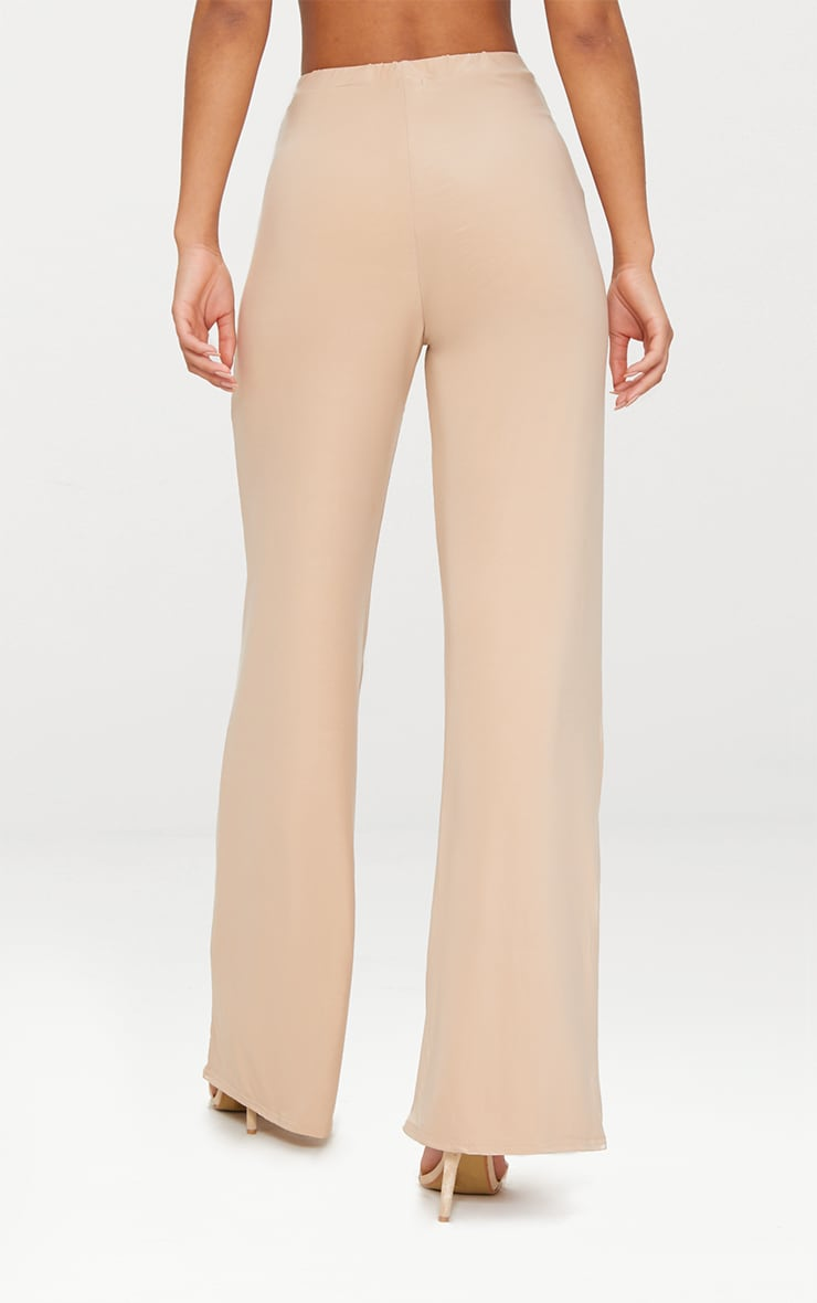Champagne Slinky Palazzo Trousers 4