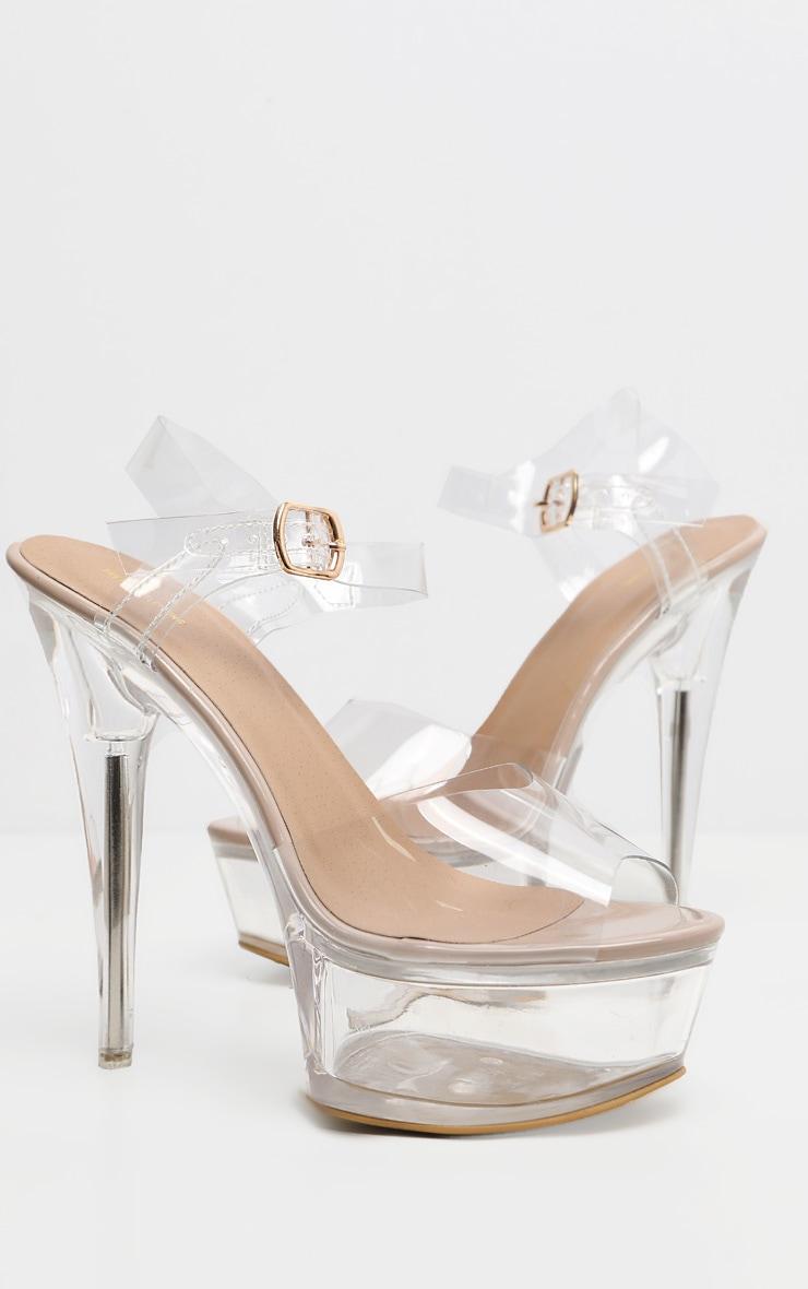 Sandales plateformes très hautes transparentes 3