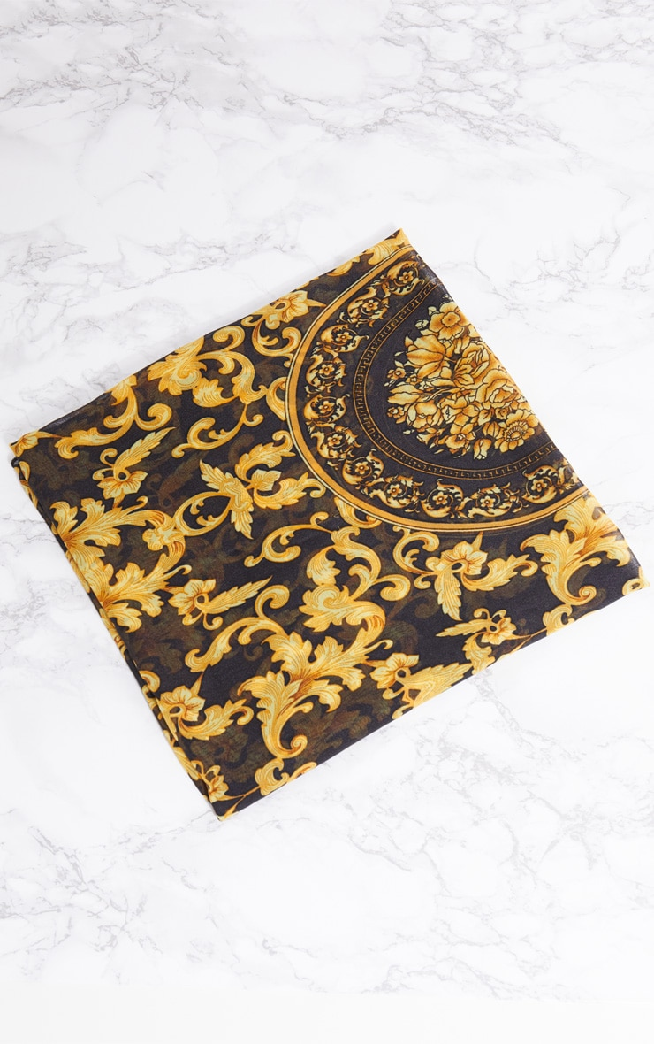 Gold Chain Print Head Scarf 3