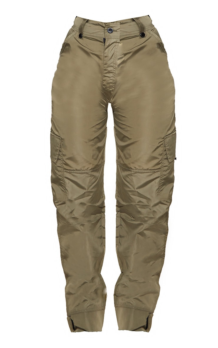Khaki Shell Straight Cargo Pocket Jogger 3