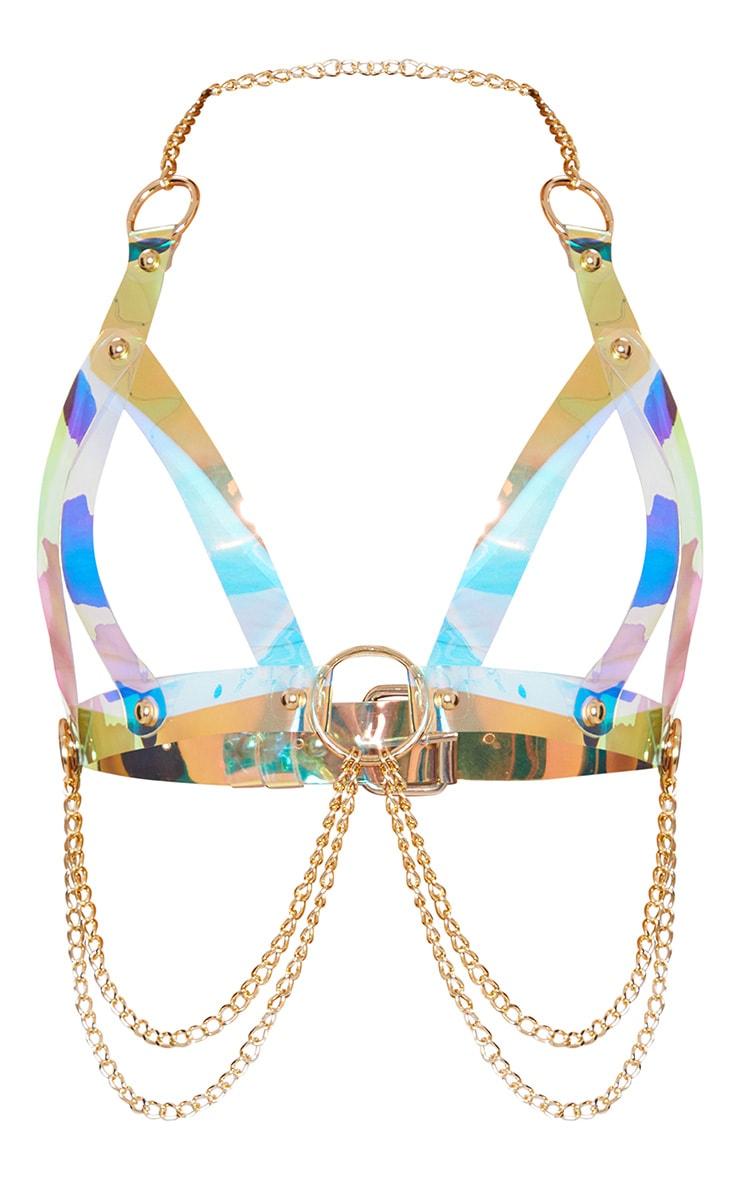 Iridescent Acrylic Chain Body Harness 1