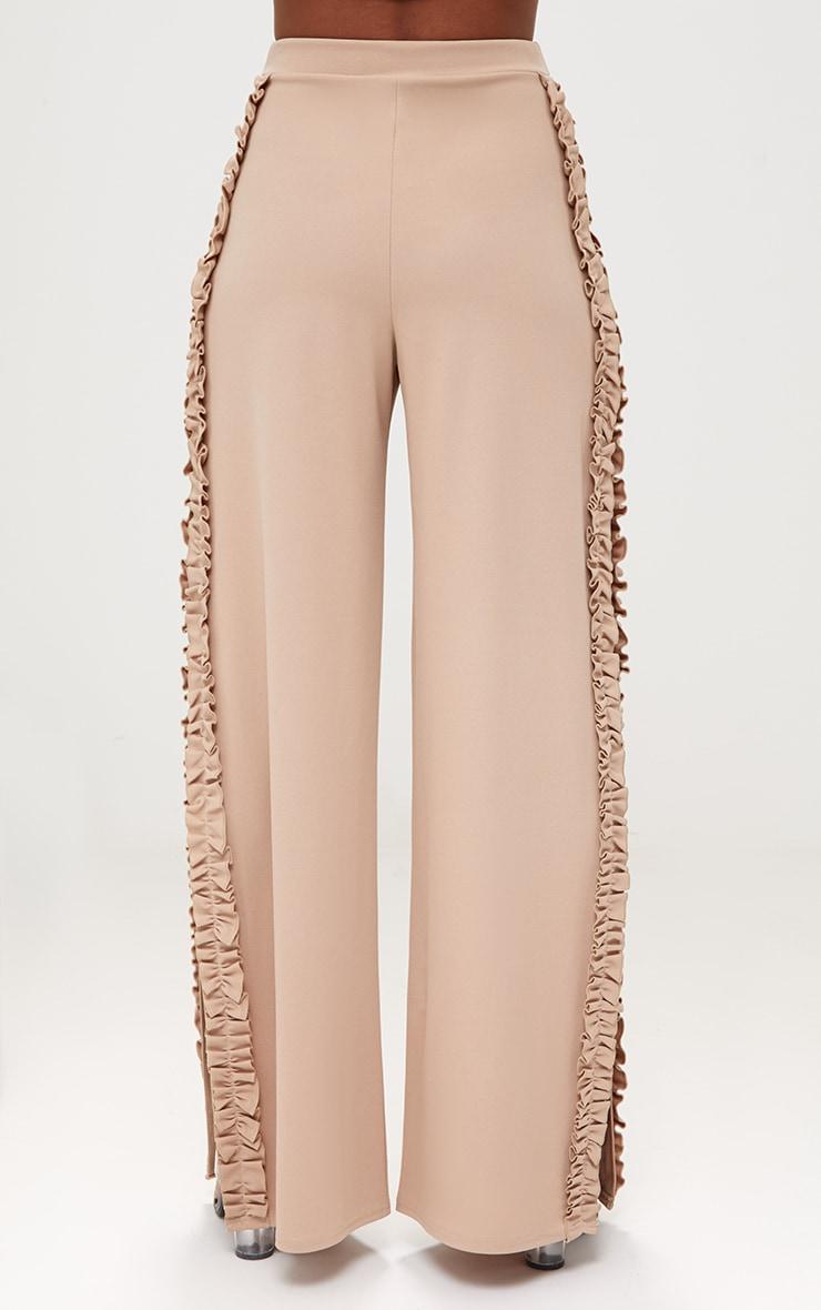 Stone Split Frill Seam Wide Leg Trousers 4