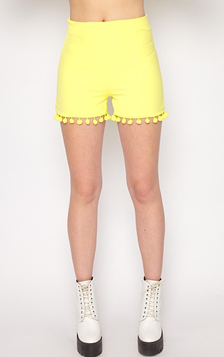 Sierra Yellow Pom Pom Short 5