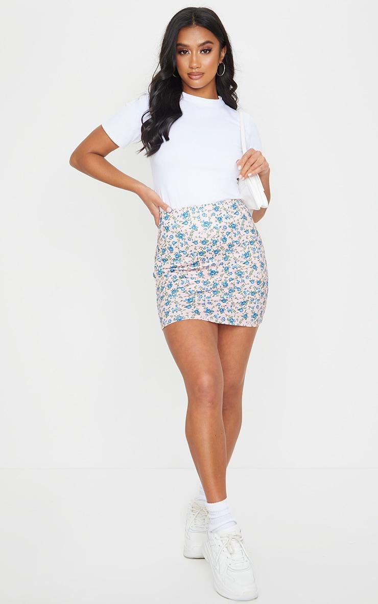 Petite Stone Ditsy Floral Mini Skirt 1