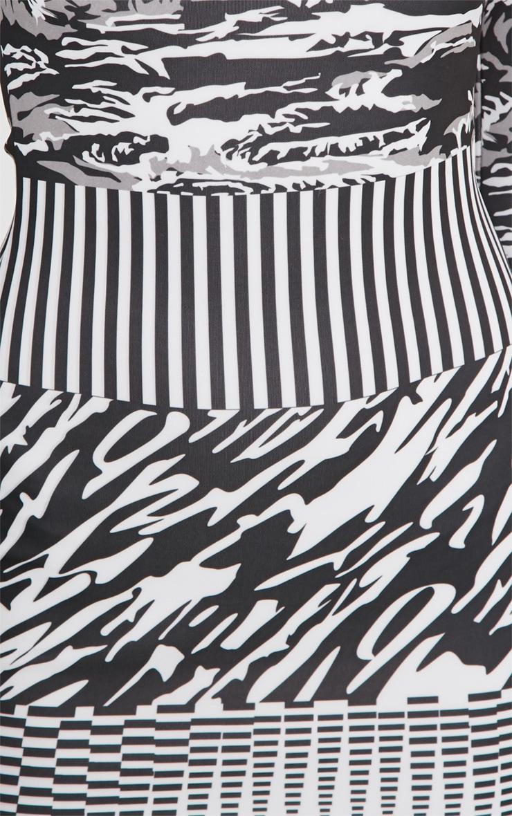 Olympia Monochrome Print Bodycon Dress 5