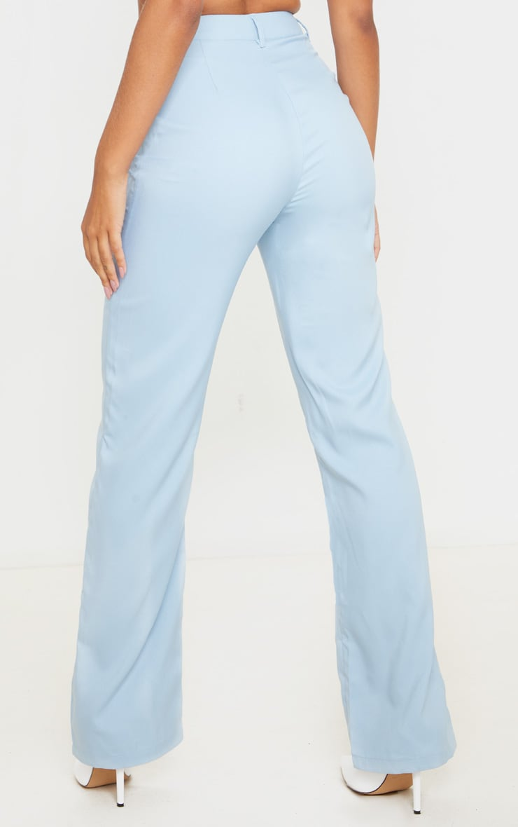 Baby Blue Anala High Waisted Straight Leg Pants 3