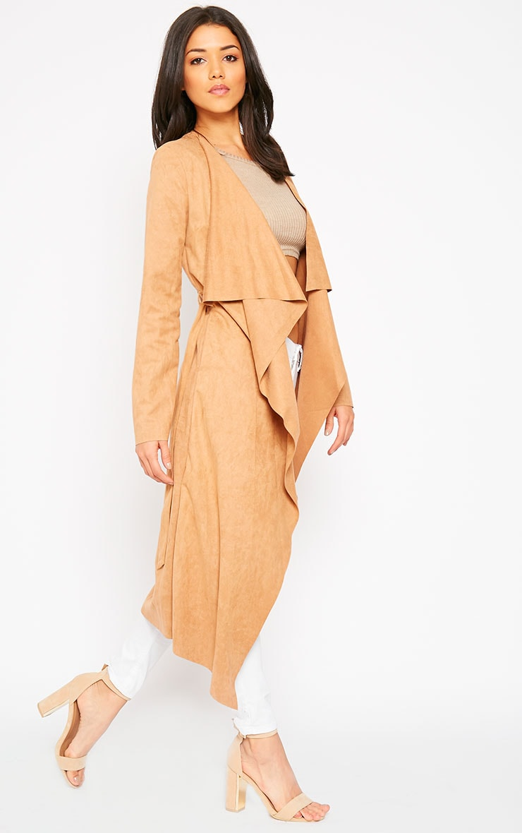 Liberty Camel Suede Waterfall Coat 3
