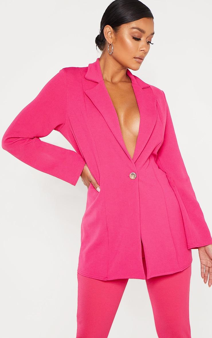 Bright Pink Oversized Boyfriend Blazer  1