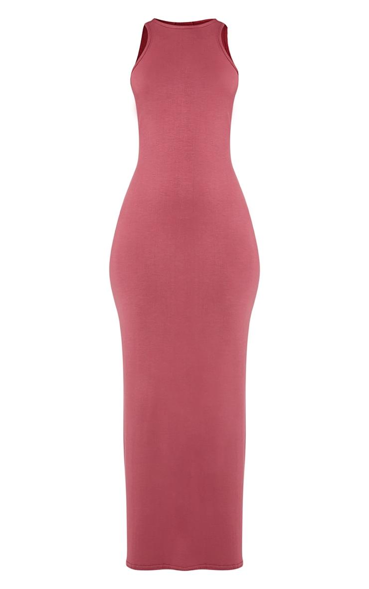 Basic Rose Racer Neck Maxi Dress 3