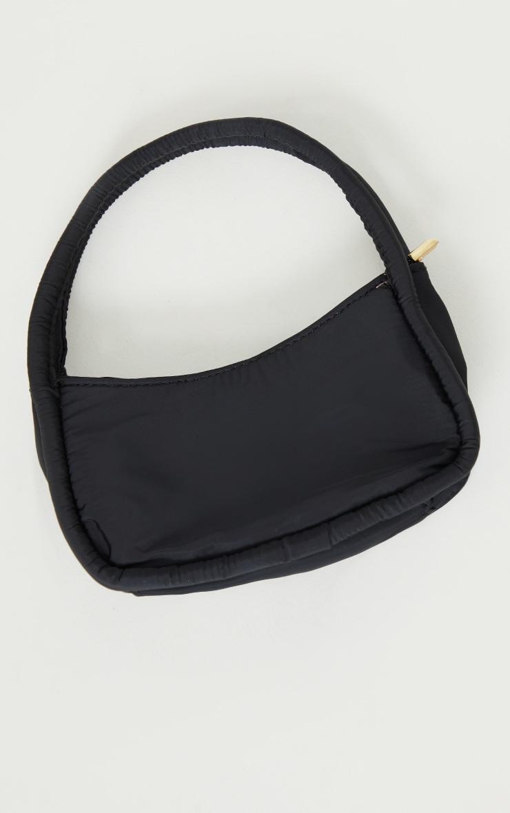 Black Nylon Double Strap Mini Shoulder Bag 2
