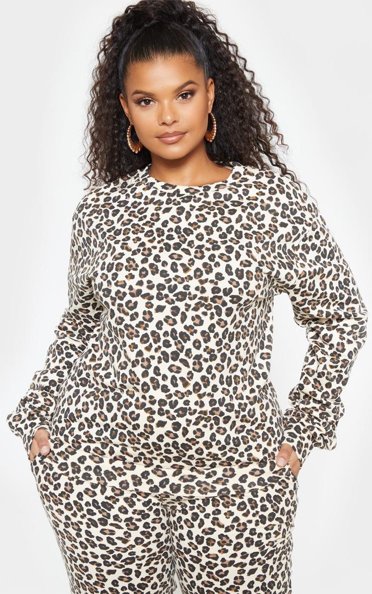 Plus Sand Cheetah Sweater 2