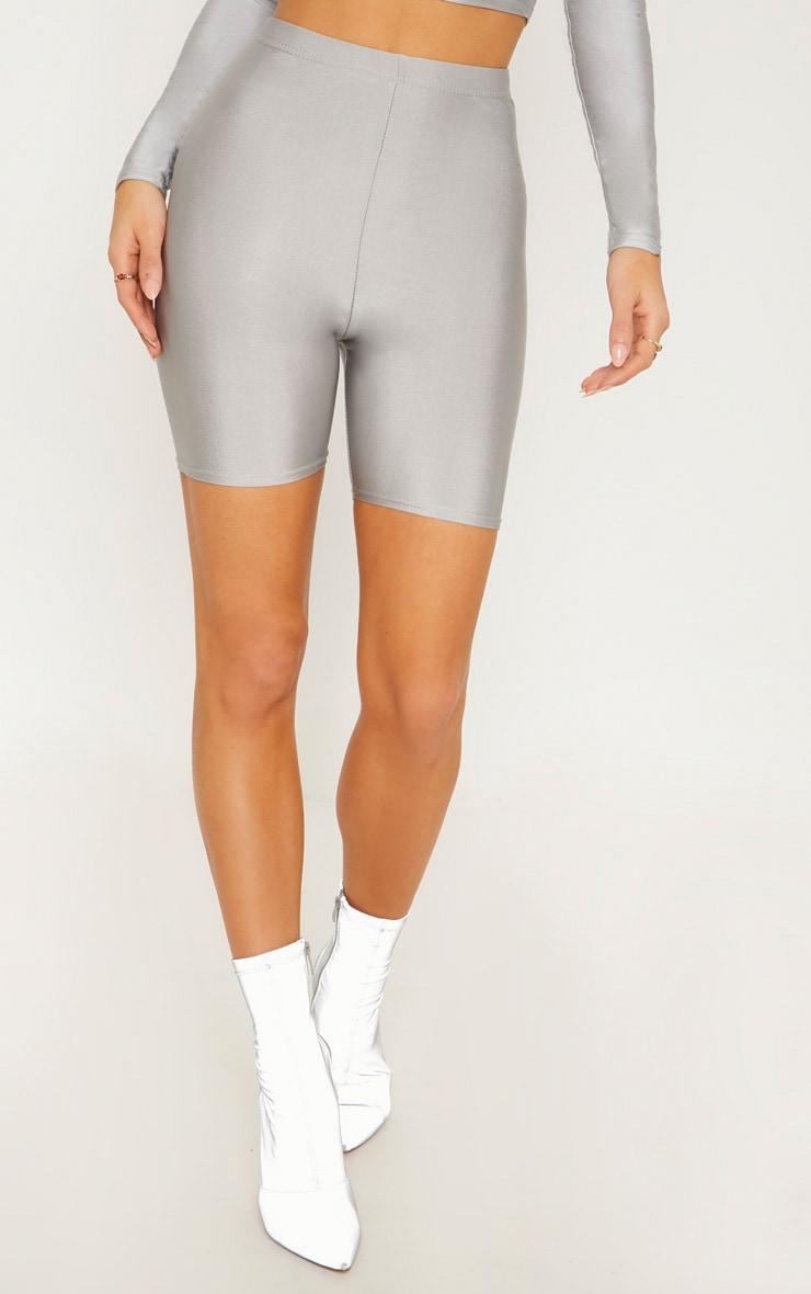 Short legging disco argenté 2