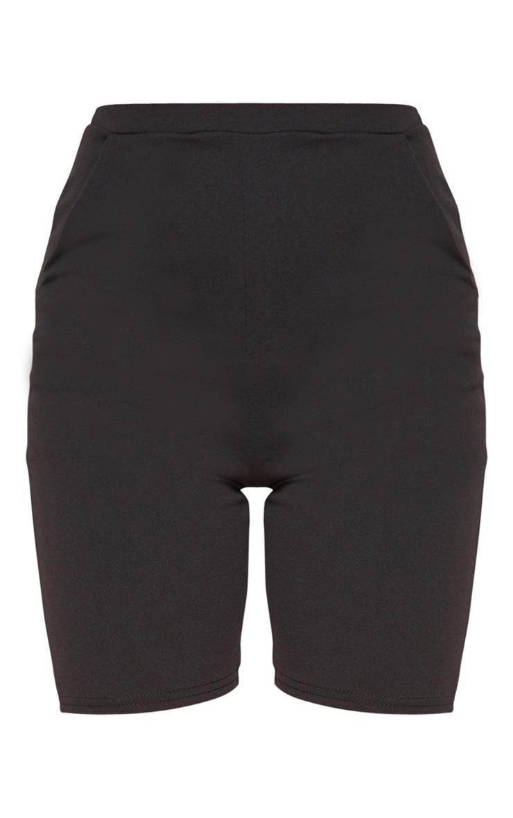 Black Bike Suit Shorts  3
