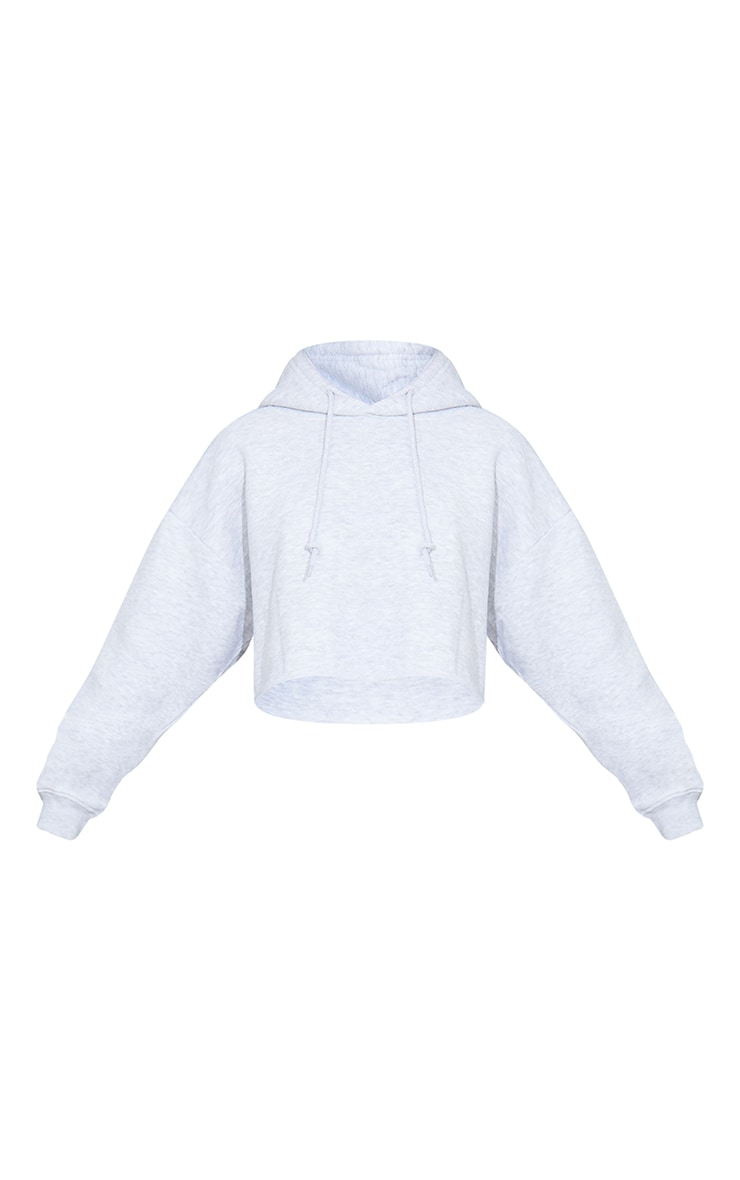 Grey Ultimate Oversized Crop Hoodie  5