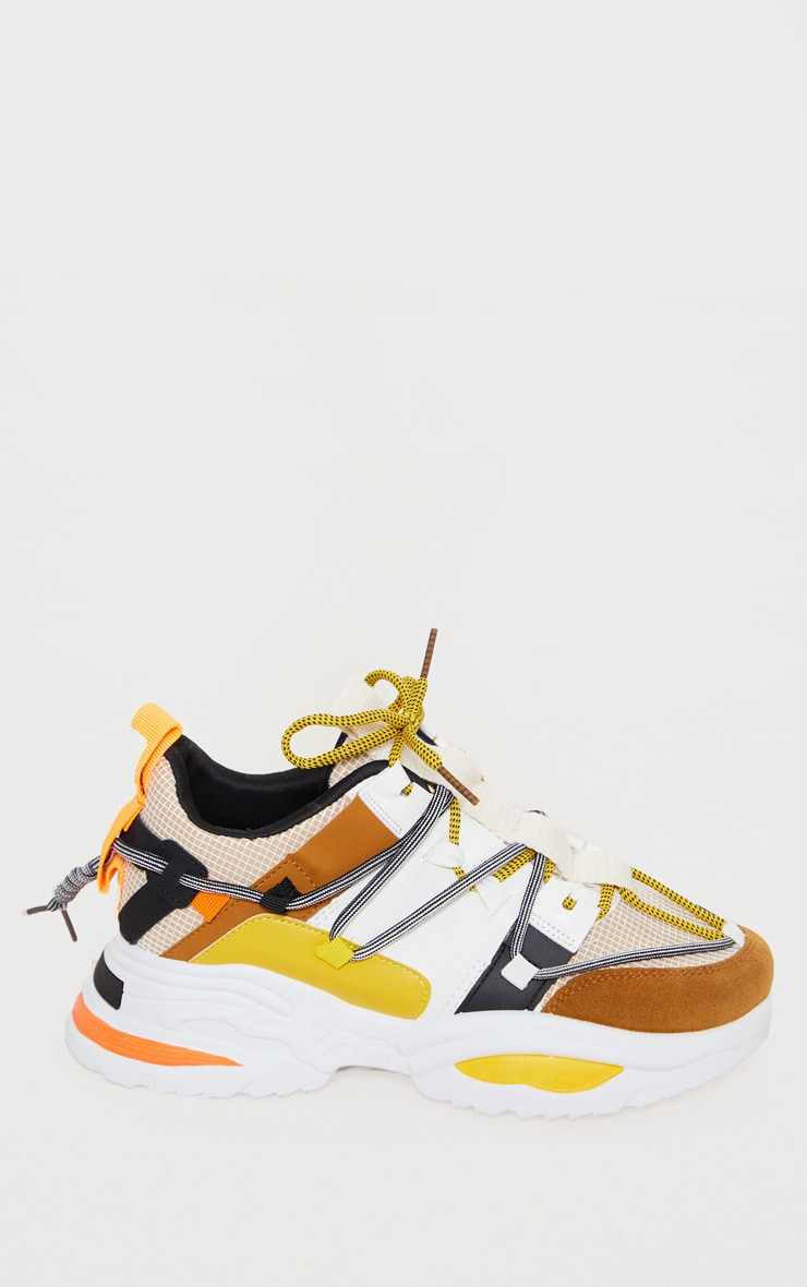Yellow Multi Chunky Sneakers 3