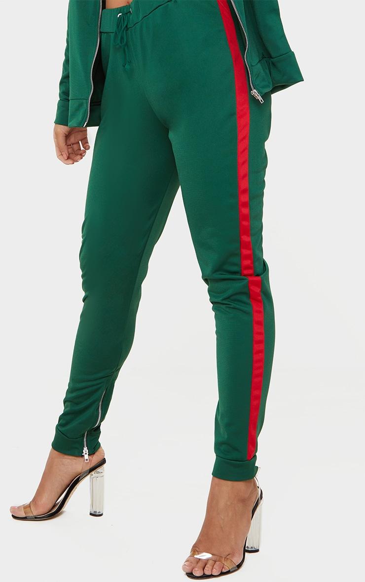Green Scuba Contrast Stripe Joggers  5