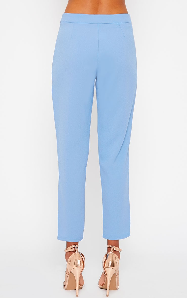 Iris Blue Cigarette Trousers 4