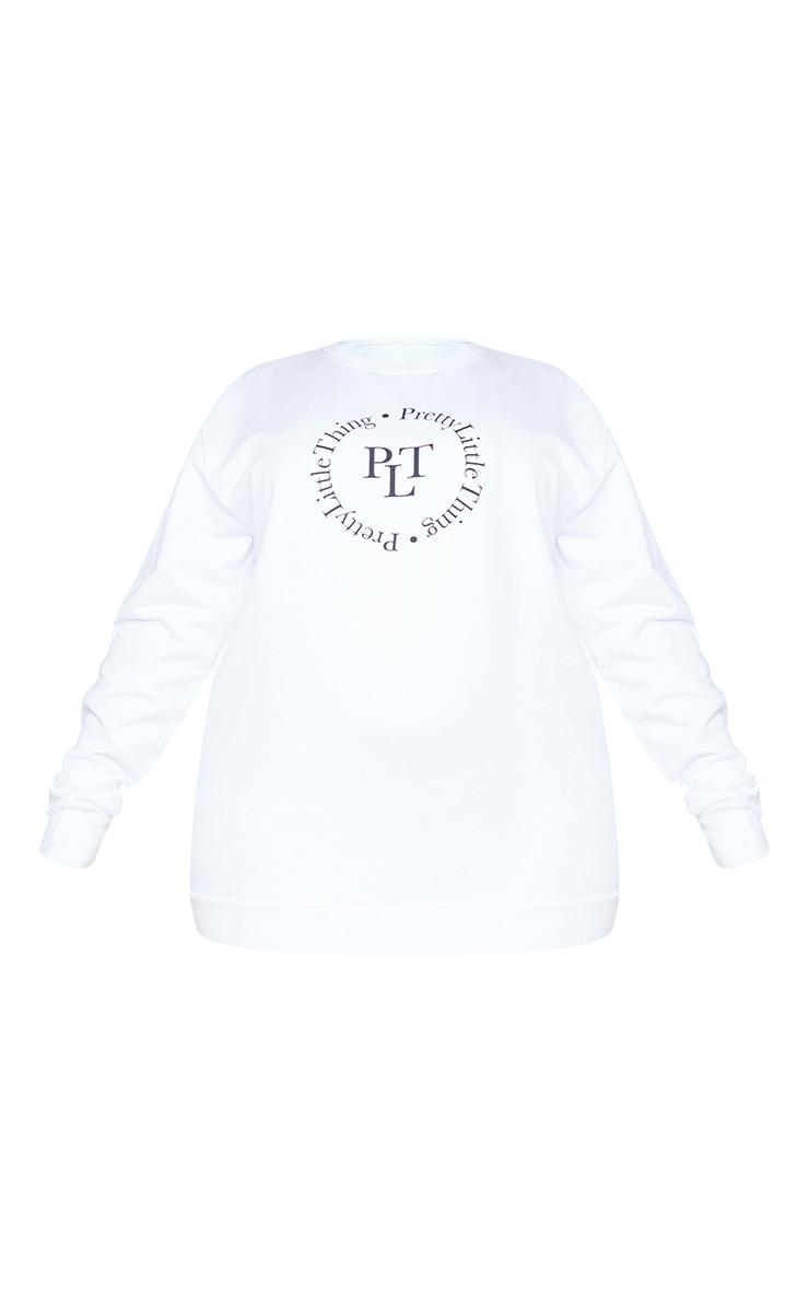 PRETTYLITTLETHING Plus Cream Sweatshirt 5