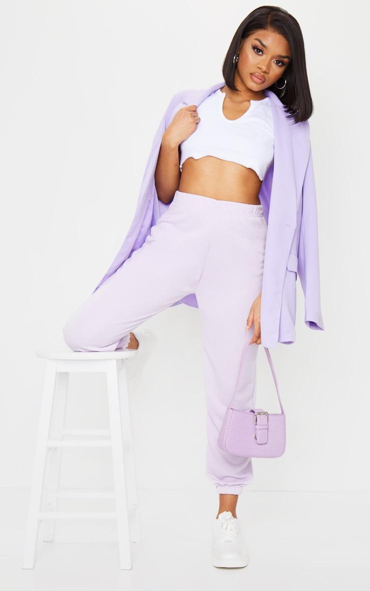 Petite Lilac Basic Cuffed Joggers 1