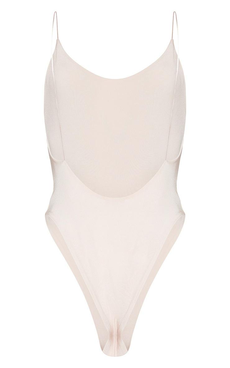 Nude Skinny Strap Swimsuit 4