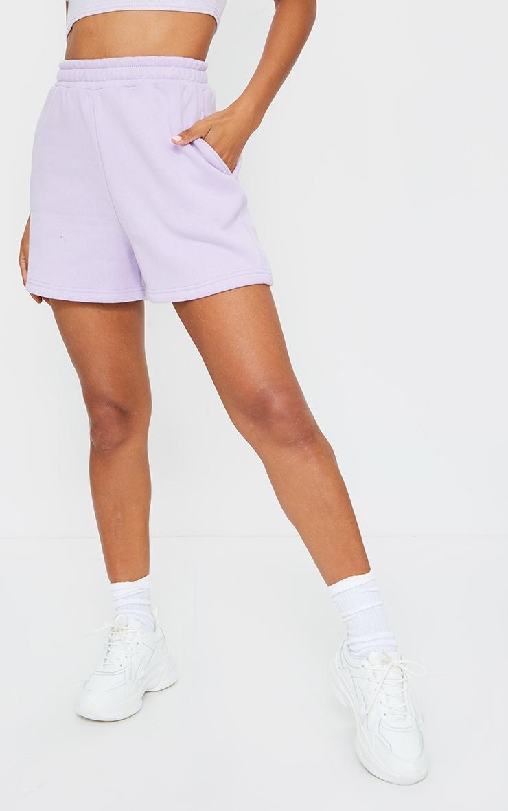 Lilac Sweat Pocket Shorts 2