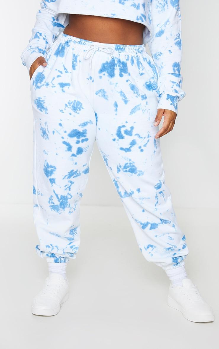 Plus Blue Tied Dye Jogger 2