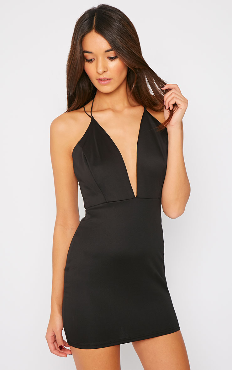 Gisele Black Plunge Dress 1