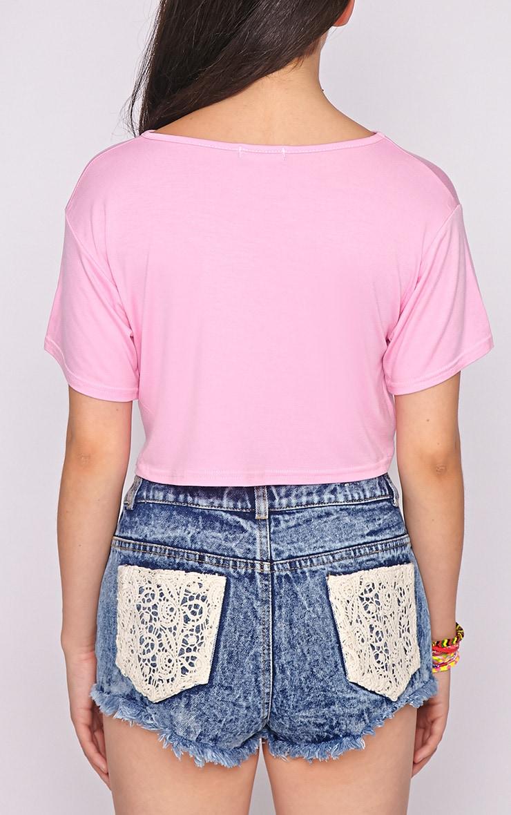 Lucille Pink Boyfriend Crop Top 2