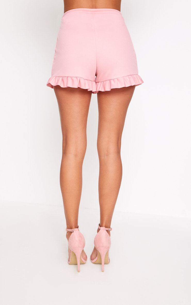 Rose Frill Hem Shorts  4
