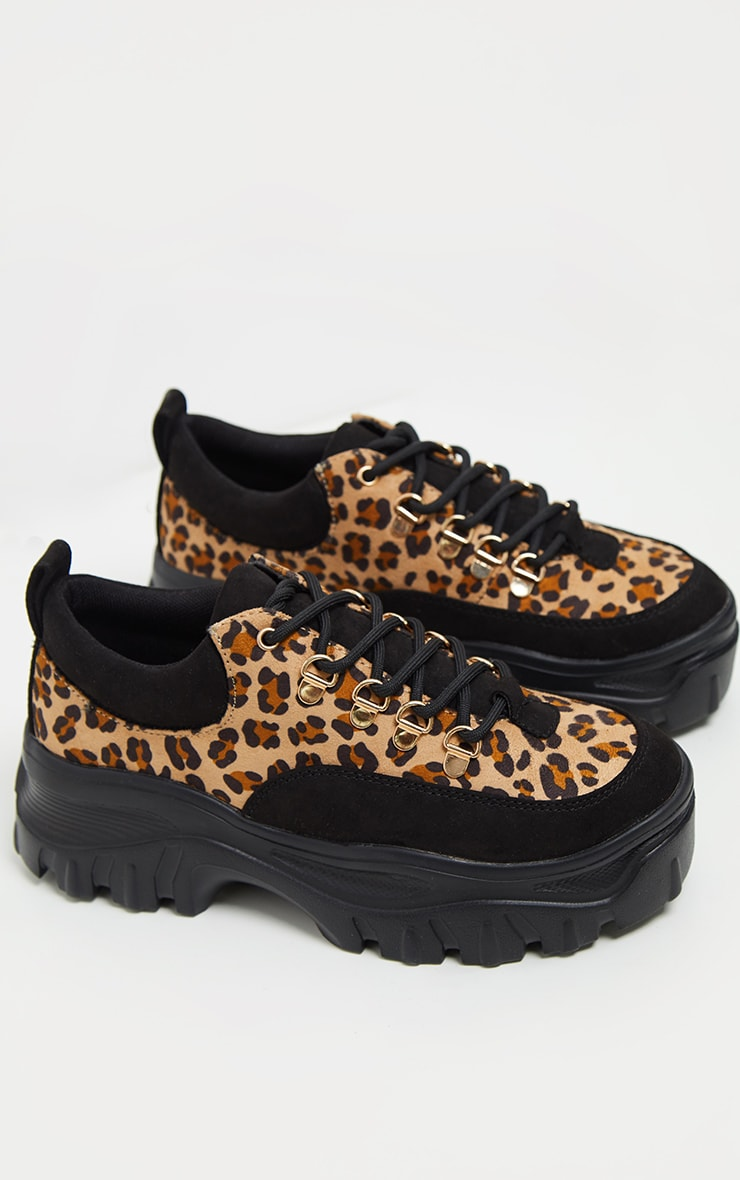 Leopard Flatform Chunky Hiker Trainer 4