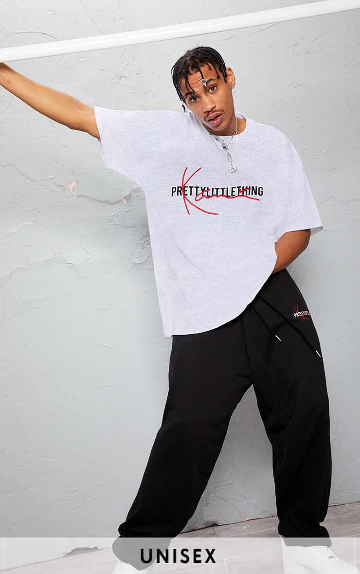 KARL KANI Grey Embroidered T Shirt