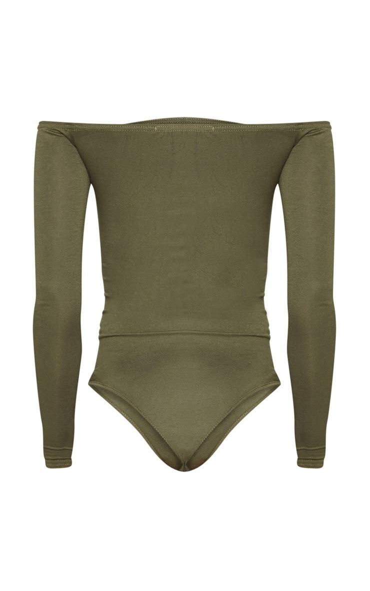 Khaki Bardot Bodysuit 2