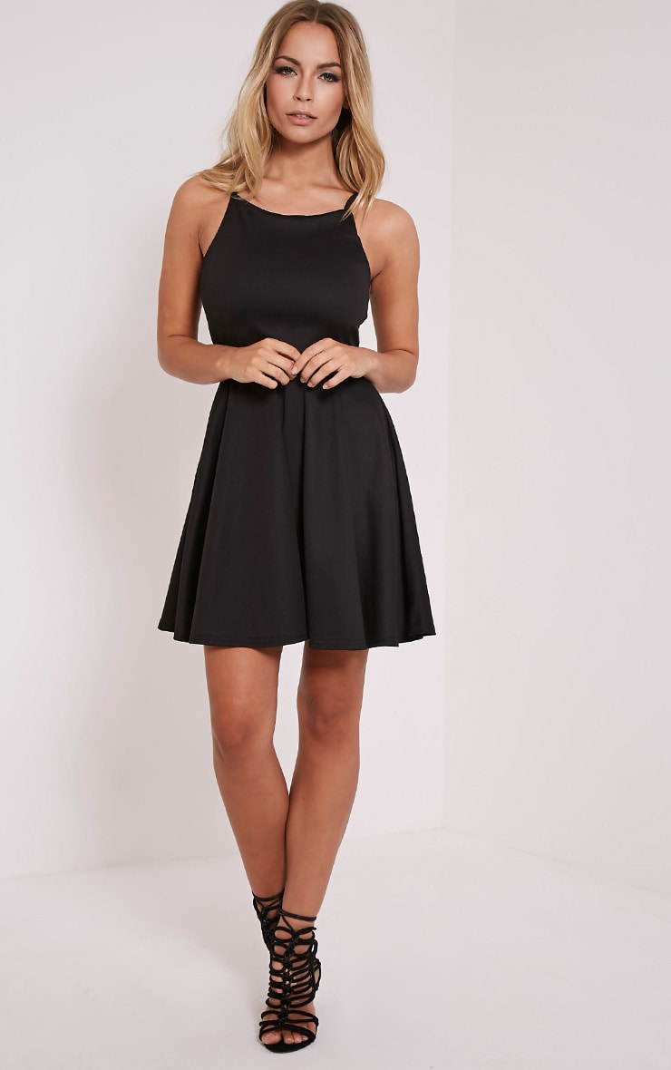 London Black Skater Dress 4